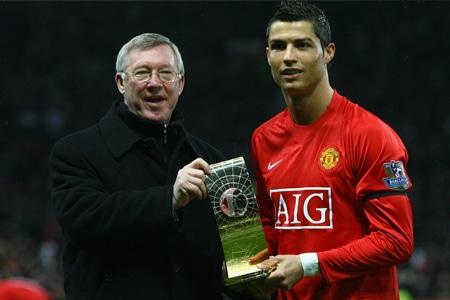 Alex Ferguson et Cristiano Ronaldo