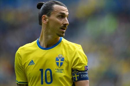 Zlatan Ibrahimovic sous le maillot de la Suède