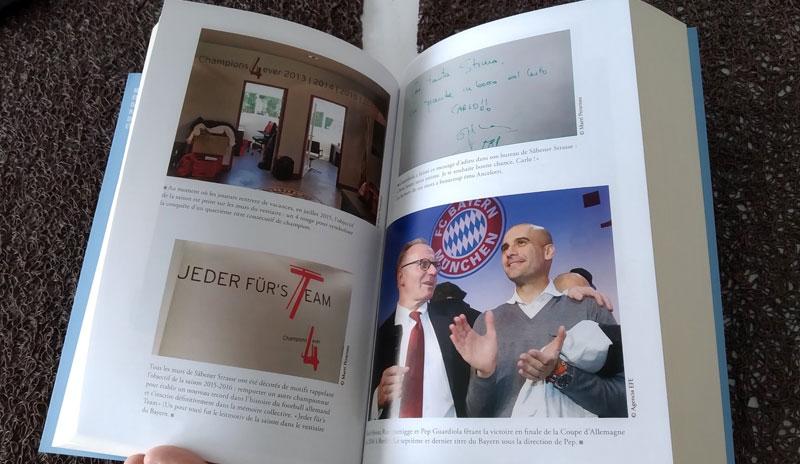 Le livre dispose d'une petite dizaine de photos de Guardiola au Bayern