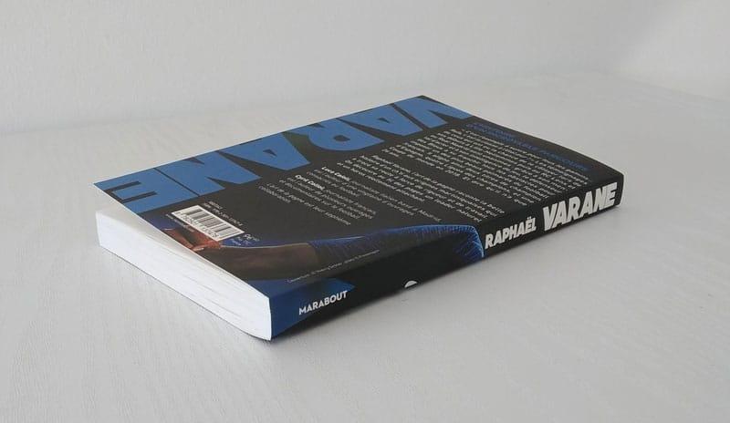 Quatrième de couverture de la biographie de Varane