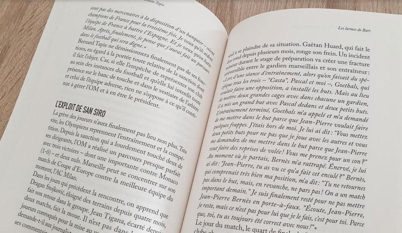 Dans le vestiaire de l'om extrait du livre
