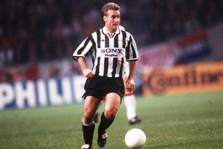 Deschamps jouant avec la Juventus
