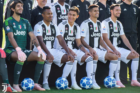 Joueurs de la Juve durant la saison 2018-2019