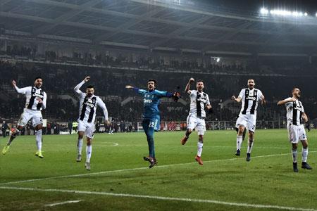 Les joueurs de la Juventus célébrant