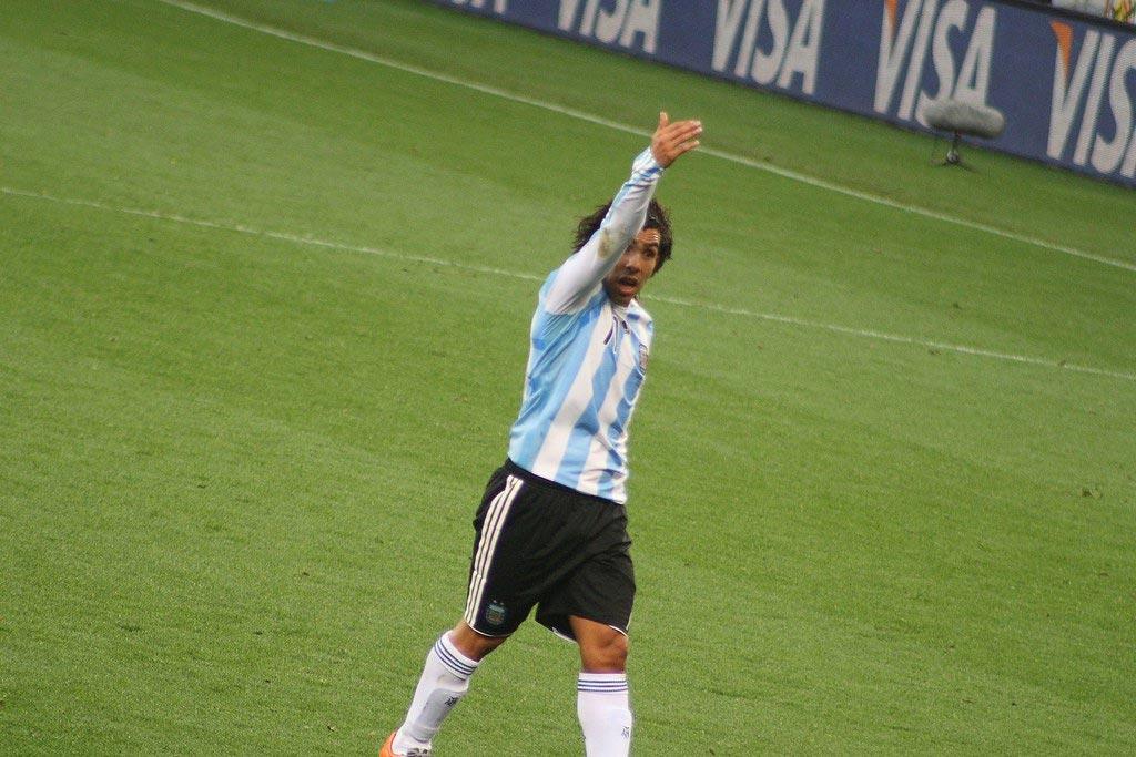 La cicatrice de Tevez avec la Juventus